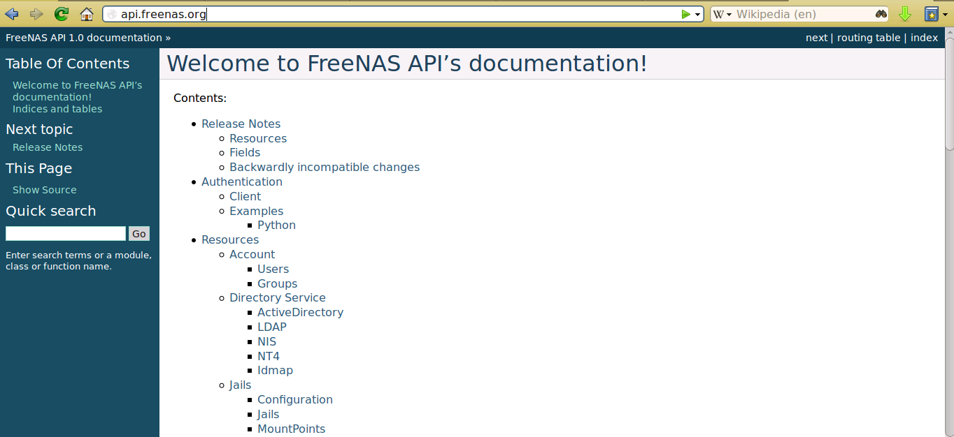 30  Using the API — FreeNAS®11 1-U7 User Guide Table of Contents