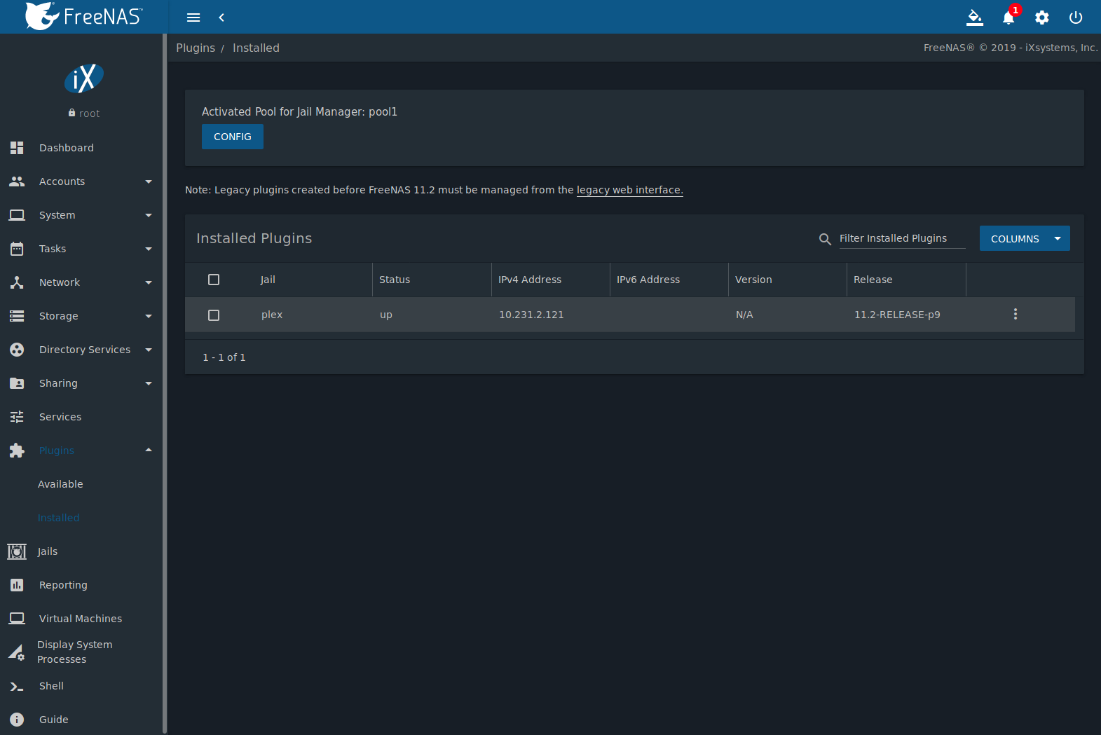13  Plugins — FreeNAS®11 2-U3 User Guide Table of Contents