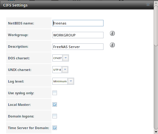 11 Services Configuration Freenas User Guide 93 Table Of Contents