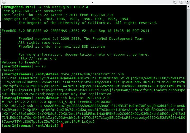 Freenas 8 SSH Key